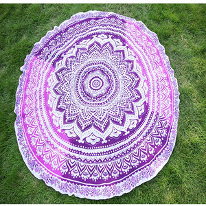 Round Mandala Tapestry Outdoor Beach Towel 8 Different Colours