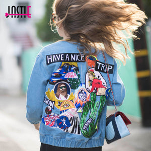 Hippie Denim Have A Nice Trip Denim Jacket