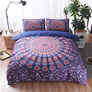 Mandala 3PCS Printing Duvet Cover Set With Pillow Covers Twin/Queen/King Bed Set
