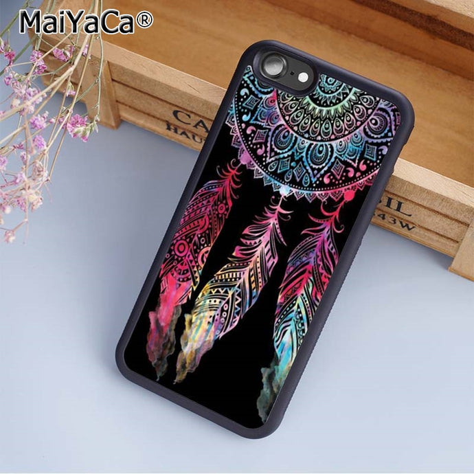 Dreamcatcher Phone Case Cover For iPhone 4 5 5s SE 6 6s 7 8 plus 10/X And Samsung Galaxy S6 S7 S8 edge