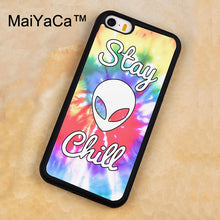 Stay Chill Alien Tie Dye Phone Case For Iphone 5 5s SE Phone Cases