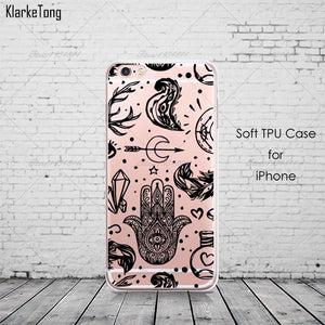 Mandala Elephant Hamsa Phone Cases For iPhone 6 6s 5 5s se 7/7Plus 8 X