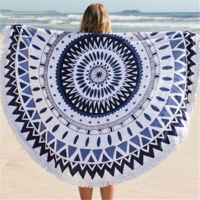Round Hippie Mandala Tapestry Indian Beach Towel