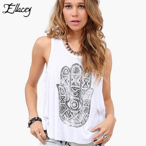 White Hand Of Fatima Tank Top