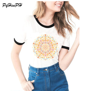 Neural Mandala Pattern Printed Shirt