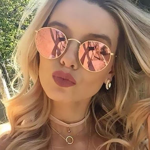 Retro Round Women Sunglasses
