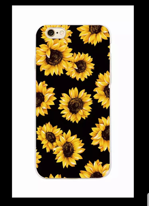 Cute Summer Sunflower Floral Flower Soft Clear Phone Case  Fundas Coque For iPhone 7 7Plus 6 6S 8 8PLUS X XS Max SAMSUNG
