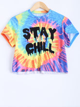 Hippie Tie Dye Stay Chill Rainbow Shirt