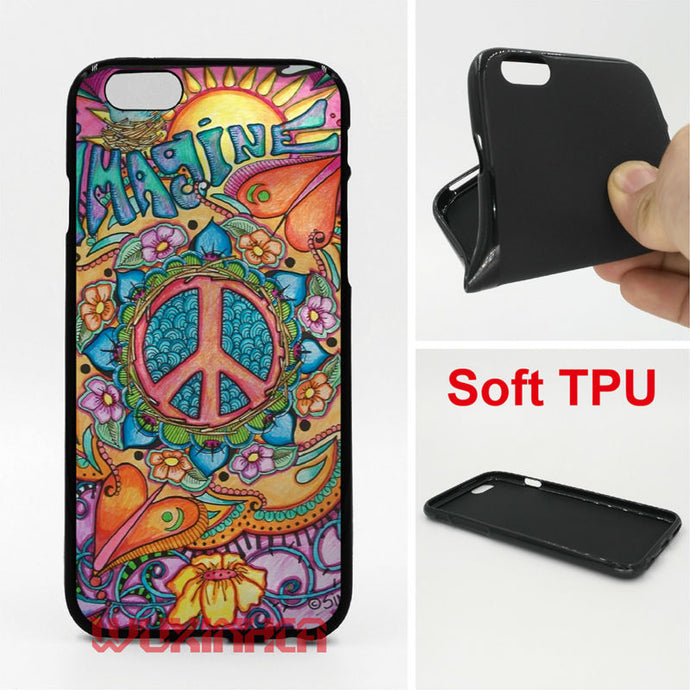 Hippie Phone Cases For iPhone 6 7 Plus SE 5S 4S Touch 6 Samsung S8 Plus S7 S6 Edge S5 2016 J5 A3 A5