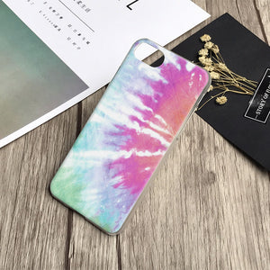 Tie Dye Hippie Phone Cases For iPhone X 8Plus 8 7Plus 7 6sPlus 6s 6Plus 6 5 5S SE 4s 4 12 Different Designs