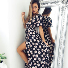 Women Chiffon Floral Print Boho Dress