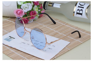 Multi Colour Vintage Round Hippie Sunglasses