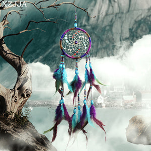 Antique Imitation Dreamcatcher Blue And Purple