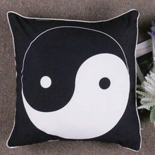 Yin Yang Printed Cushion Cover Black And White
