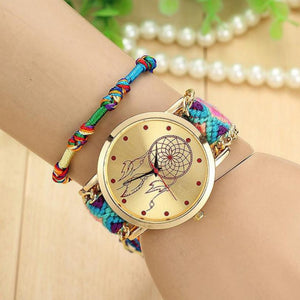 Boho Womens Watches Native Handmade Ladies Watches Vintage Quartz Watch Dreamcatcher