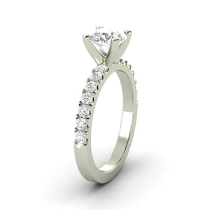 Engagement Rings Fine Rings 1.45 Ctw Round Ring H Si2 White Gold 14k Lab Grown Igi Certified Made To Order