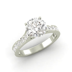 1.45 Ctw Round Ring H Si2 White Gold 14k Lab Grown Igi Certified Made To Order Jewelry & Watches Jewelry & Watches