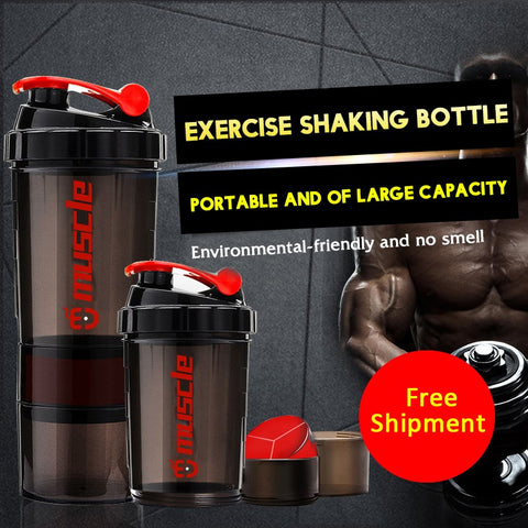 Best Smart Protein Powder Shaker Bottle Available with Protein Compartment - Secret Sales Den