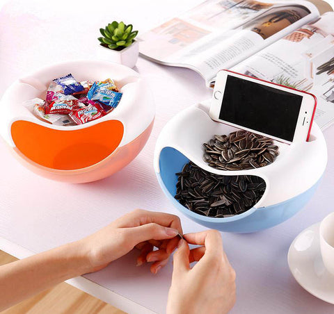 Fun Candy Snacks & Dry Fruit Bowl with Mobile Phone Holder - Secret Sales Den