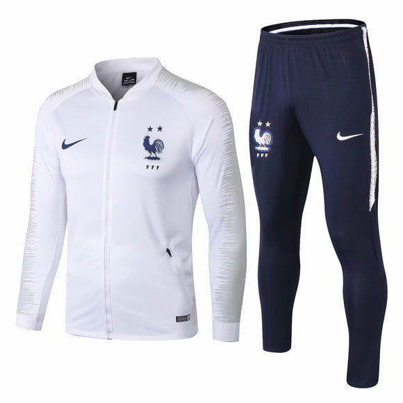 France | White | Training Tracksuit 18/19