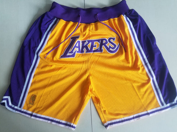 Los Angeles Lakers | Satin Stitch | Shorts