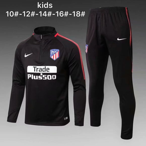 Atletico Madrid  | Black Kids Training Top + Pants 17/18