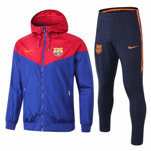 Barcelona | Blue Windbreaker Jacket + Pants Training Suit 18/19