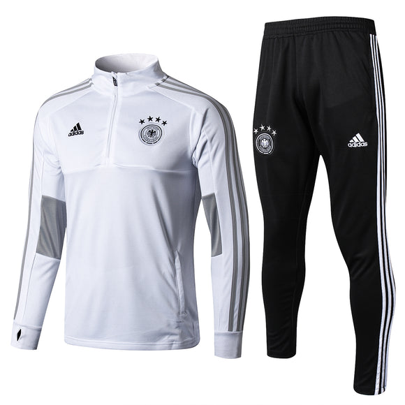 Germany | White - High Collar  | Training Top + Pants 18/19