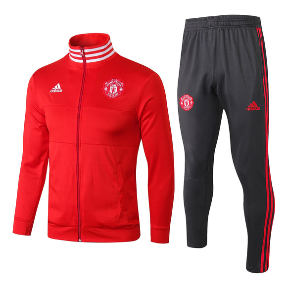 Man Utd | Red High Collar  | Training Tracksuit 18/19
