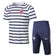France | White / black Striped Short Training Suit 18/19