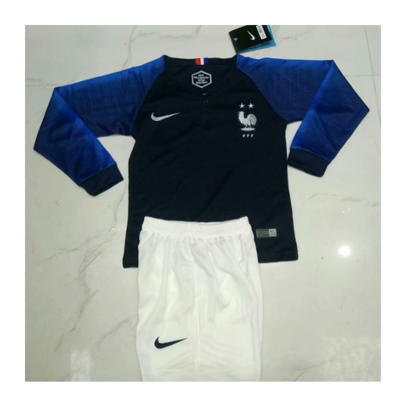 France | Kids Long Sleeves | Home Kit 17/18