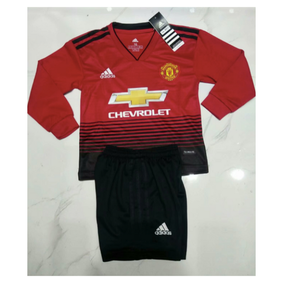 Man Utd | Kids Long Sleeves | Home Kit 18/19