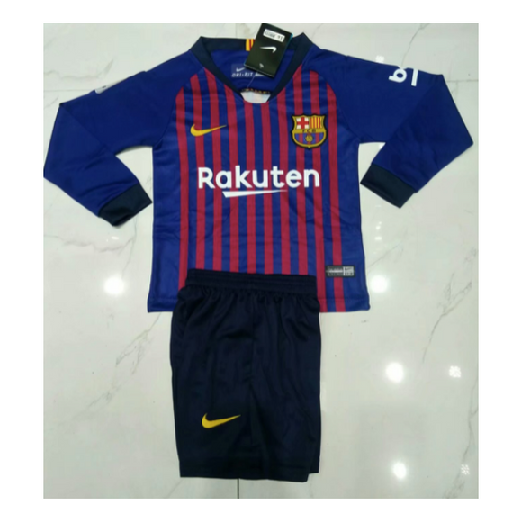 Barcelona | Kids Long Sleeves | Home Kit 18/19