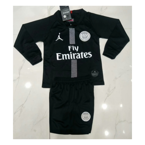 PSG | Jordan Blacks | Kids Long Sleeves  18/19