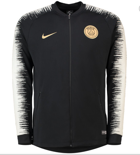 PSG | Black - Light Grey Sleeves | Training Tracksuit 18/19
