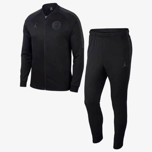 PSG | Jordan Black Training Tracksuit 18/19