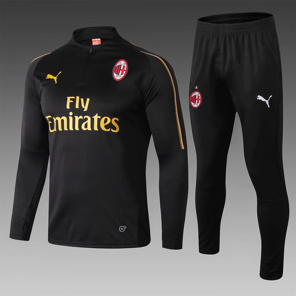 AC Milan | Black Training Top + Pants 18/19