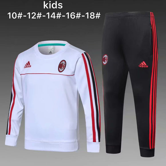 AC Milan | White Kids Training Top + Pants 17/18