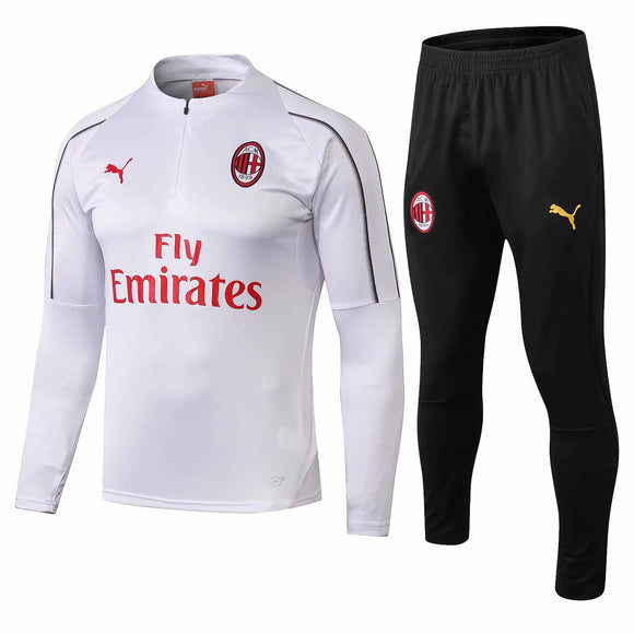 AC Milan | White Training Top + Pants 18/19