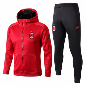 AC Milan | Red Hoodie Jacket + Pants Training Suit 17/18