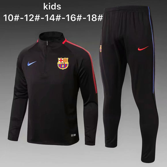 Barcelona | Black Kids Training Top + Pants 17/18