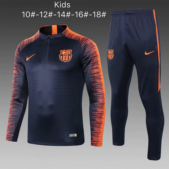 Barcelona | Blue Kids Training Top + Pants 18/19