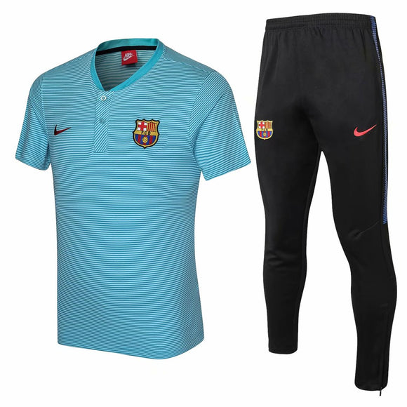 Barcelona | Blue Top+ Pants Training Suit 17/18