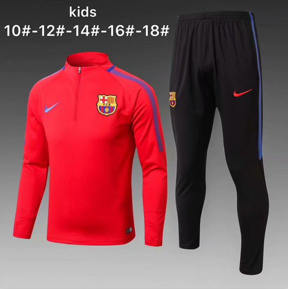 Barcelona | Red Kids Training Top + Pants 17/18