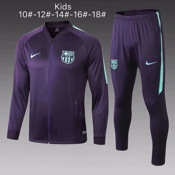 Barcelona | Purple Type A | Kids Training Tracksuit 18/19