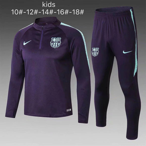 Barcelona | Purple Kids Training Top + Pants 18/19