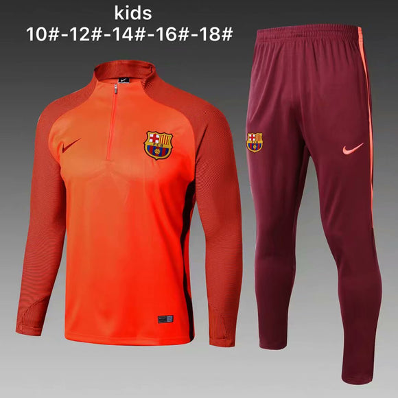 Barcelona | Orange Kids Training Top + Pants 17/18