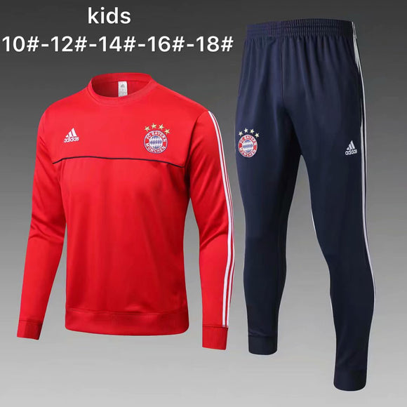Bayern | Red Kids Training Top + Pants 17/18