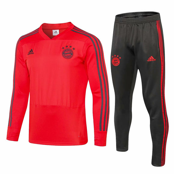 Bayern | Red V-Collar Training Top + Pants 18/19