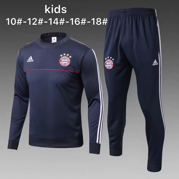Bayern | Blue Kids Training Top + Pants 17/18